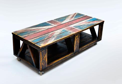 """Журнальний стіл """"Прапор Британії"""""""